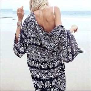 Tops - Bohemian Kimono - Beach Cover Up